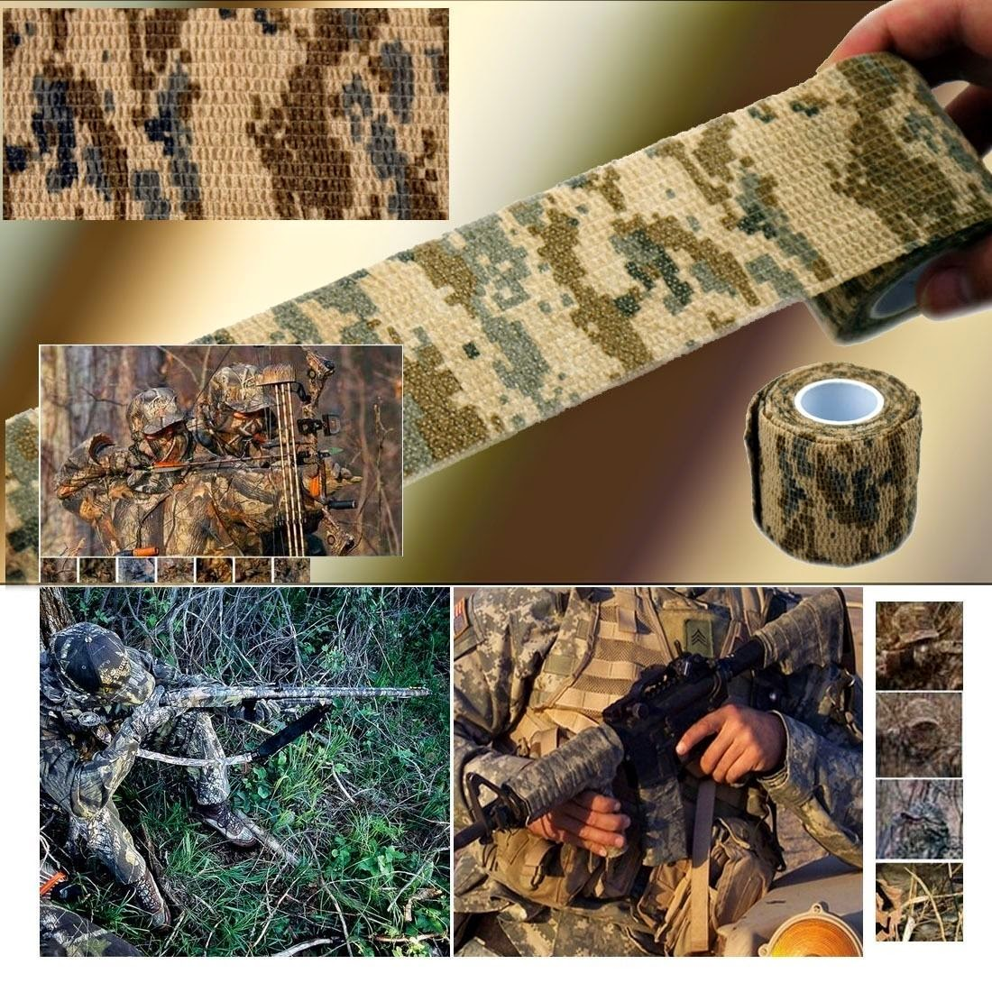 10X Outdoor Camo Wrap Hunting Camping Desert ACU Camouflage Stealth Tape