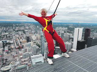 EdgeWalk on the CN Tower. Photograph of Janie Robinson, Travel Writer
