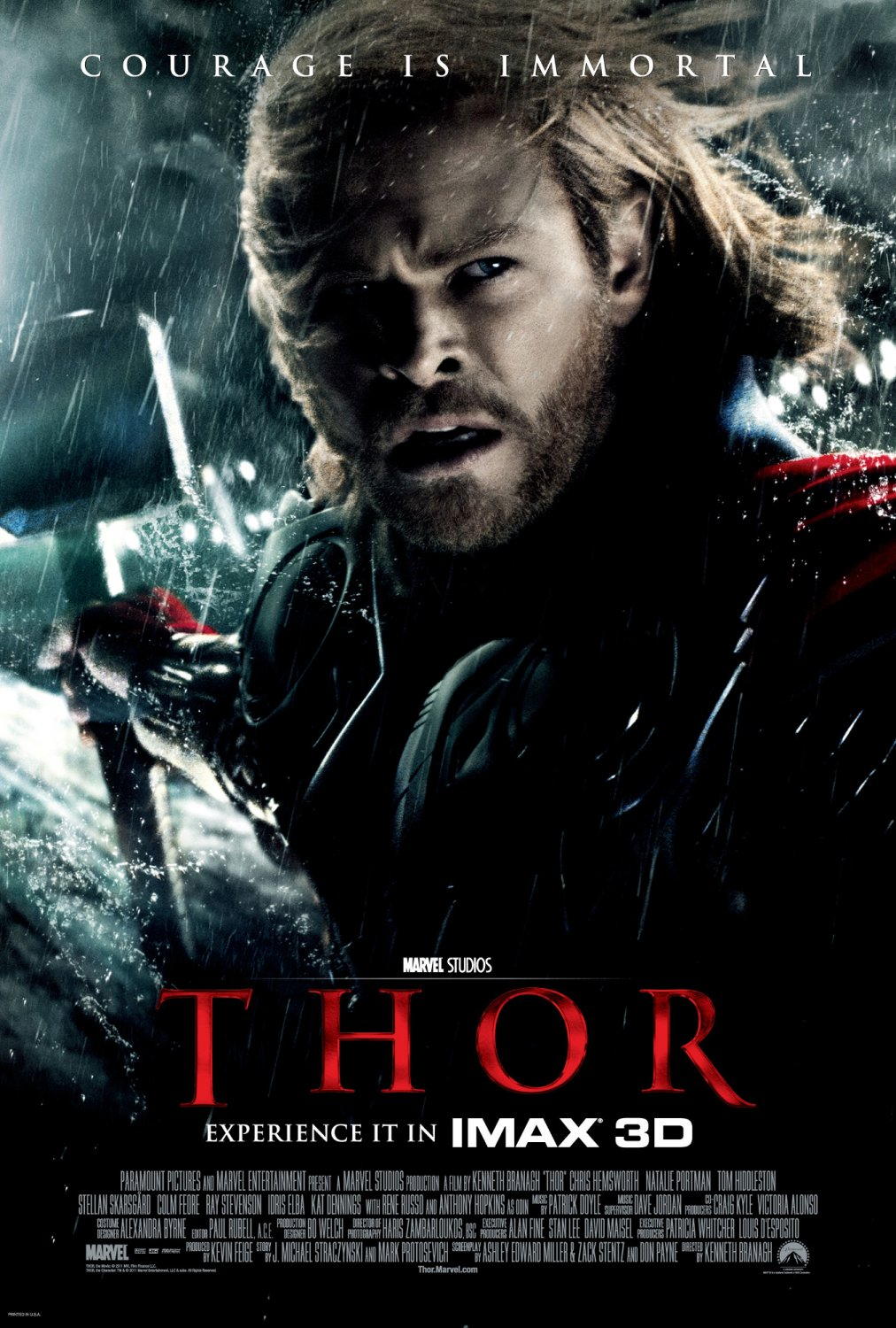 Thor 2011 Movie Poster The Powerful But Arrogant Warrior Thor Is Cast