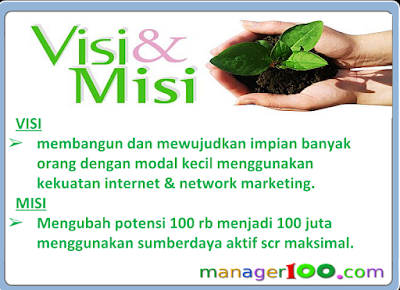 Visi Misi Manager100