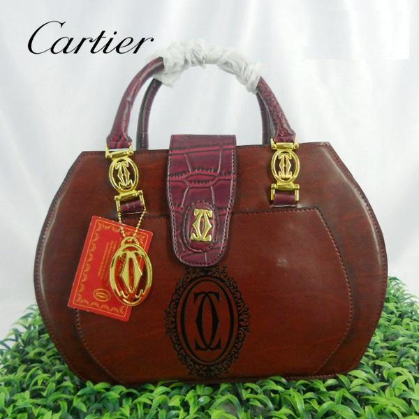 Tas Cartier : Saku Depan Maroon