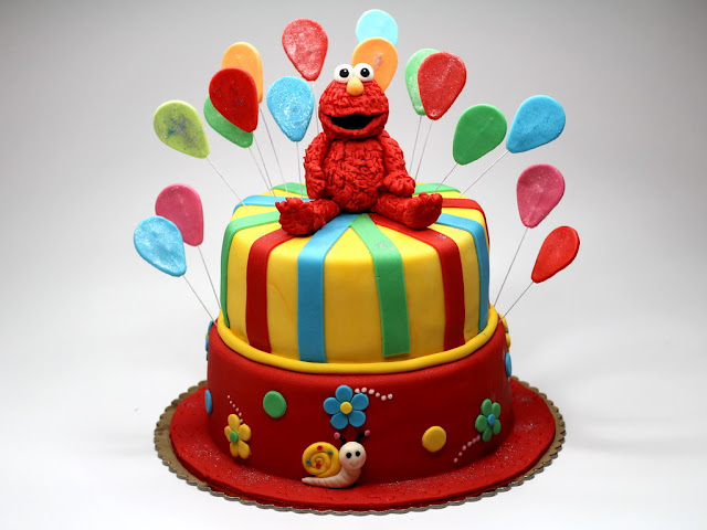 Sesame Street Elmo Birthday Cake - London