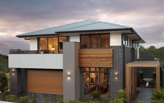 Dise o y planos de casas de dos pisos con ideas para for Pisos elegantes para casas