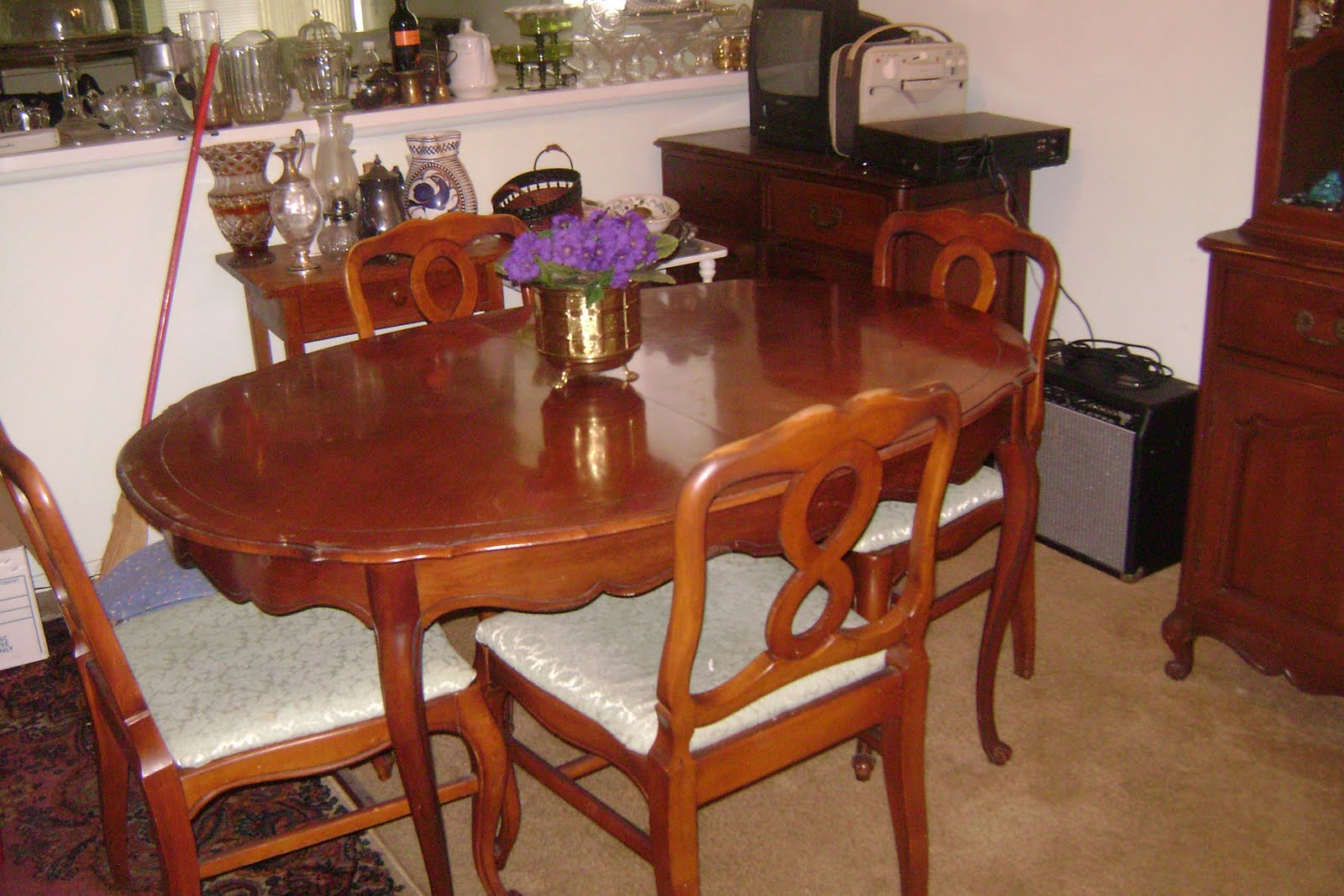 Estate sale venice fl dining room set 3 pieces for Dining room table 42 x 60