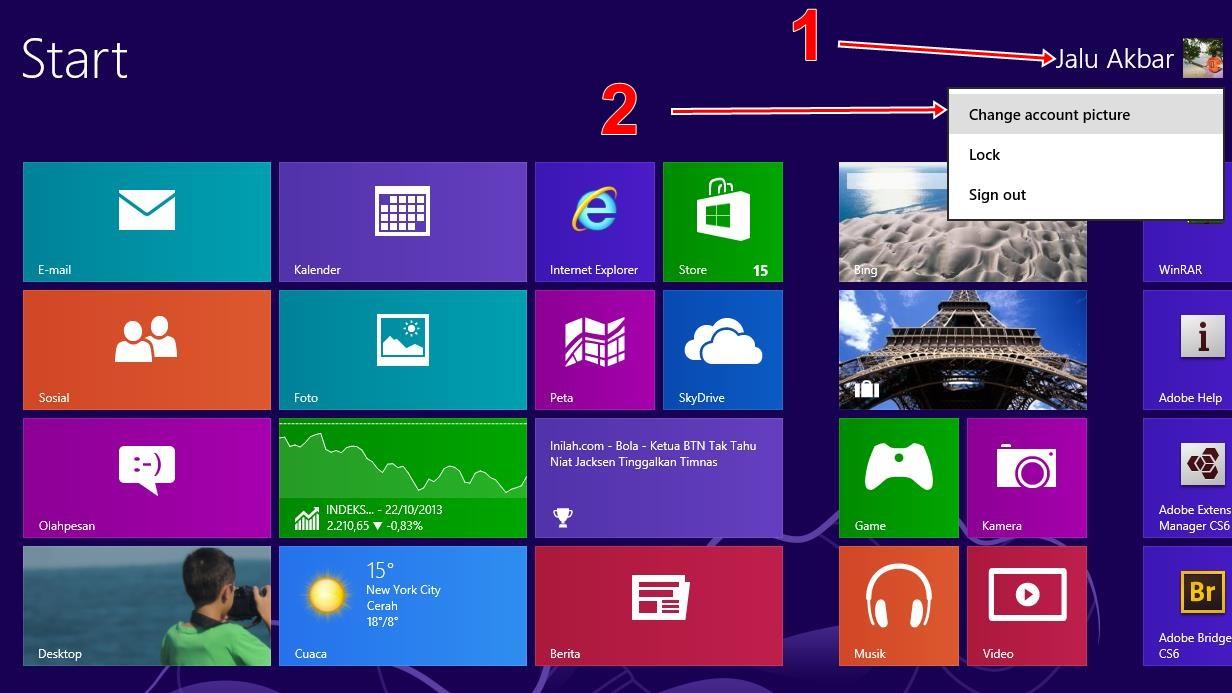 how to change window 8 start up screen