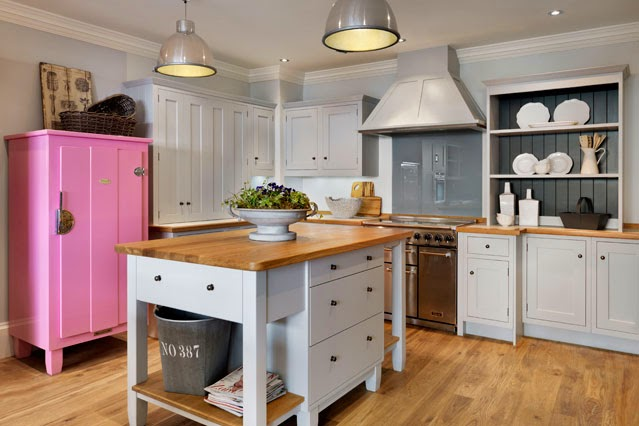 pink and white kitchen furniture ideas