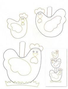 molde de galinha para patchwork
