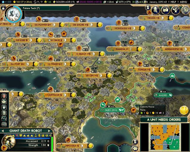 Civilization 5 - Small Hub Map Screenshot