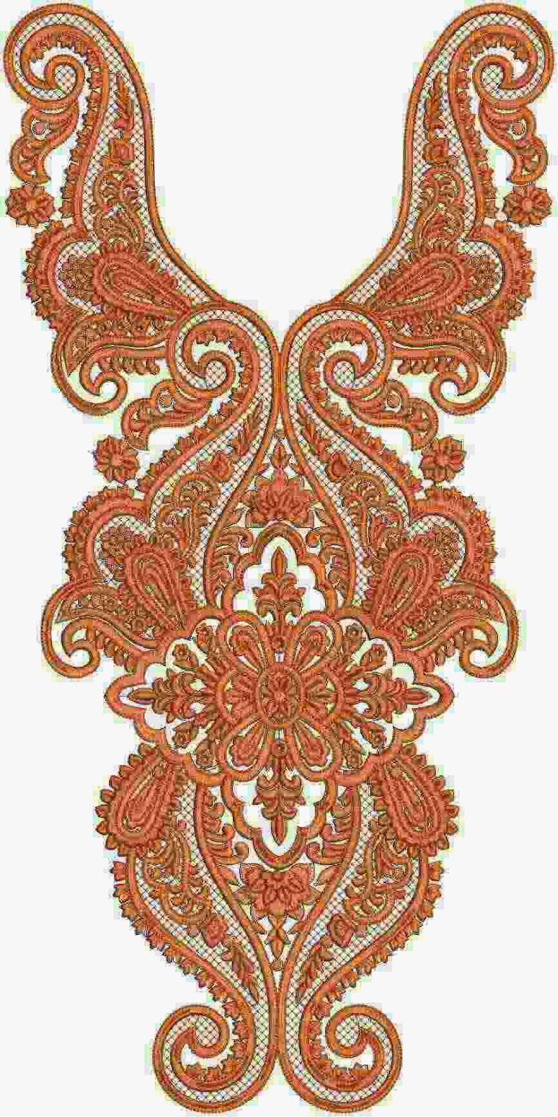 Fancy Fine Embroidered Neck Designs  Embdesigntube