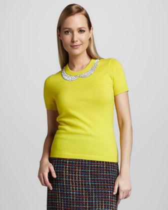 yellow dress peter pan collar yellow