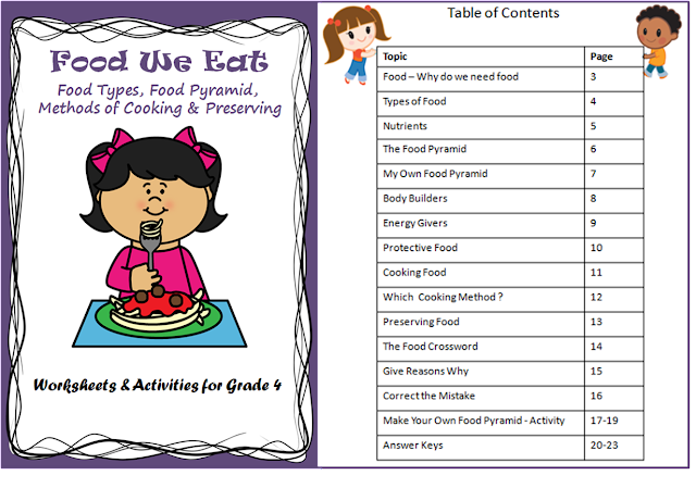 Food and Nutrition Worksheets for Grade 4