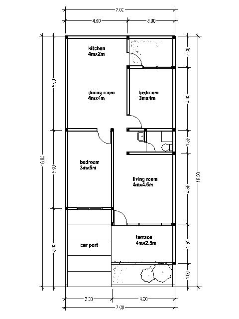 30 by 50 house plans for 16 x 50 floor plans