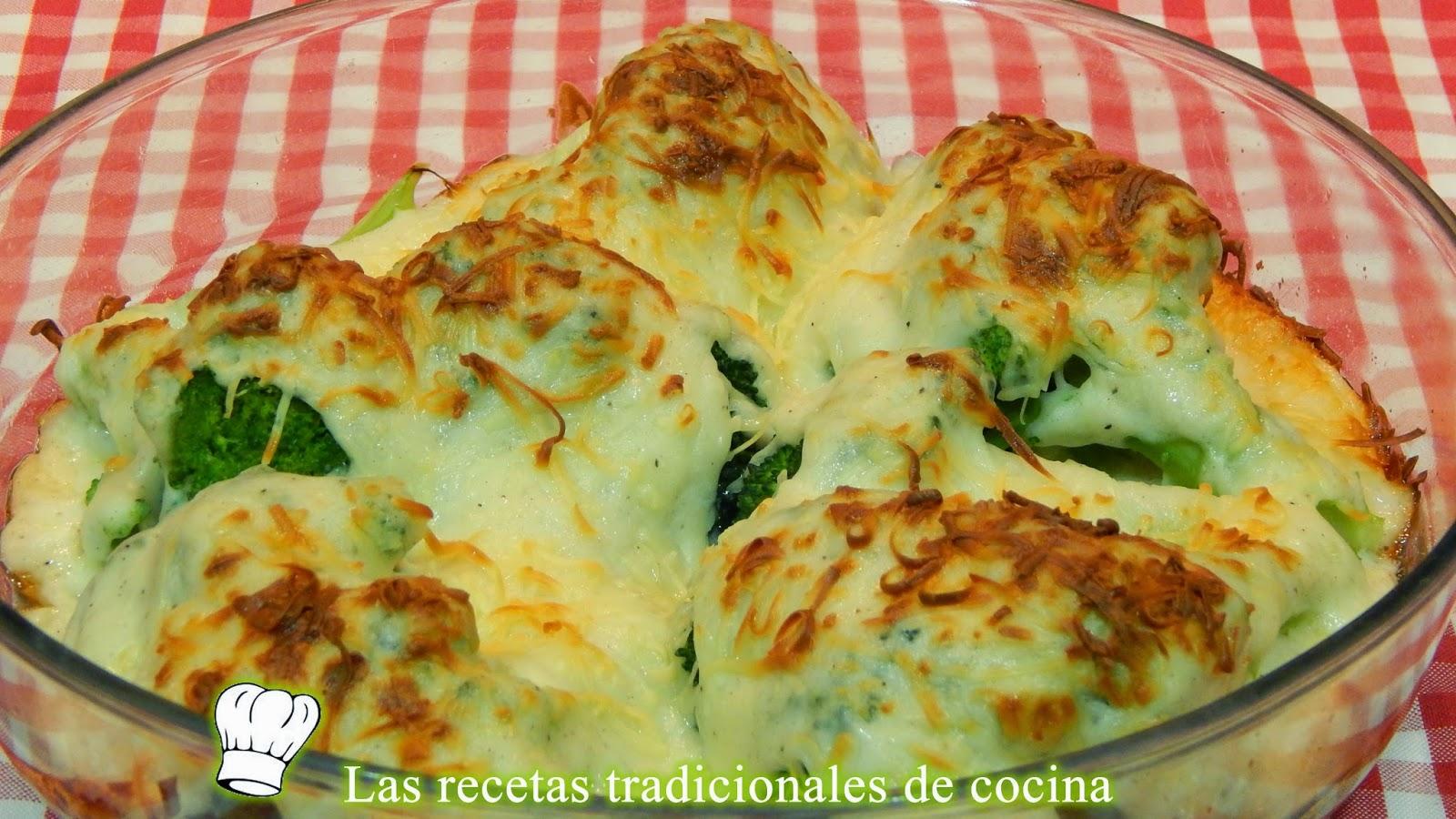 Brócoli gratinado con bechamel