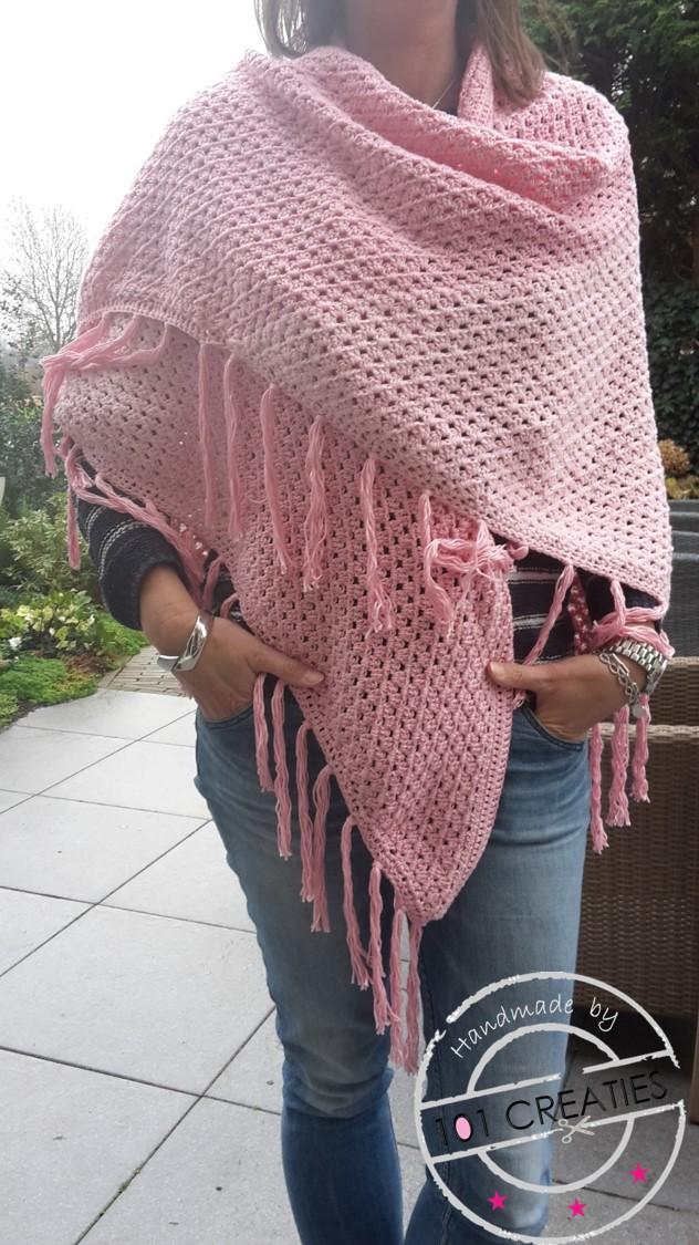 Haken Roze Omslagdoek 101 Creaties
