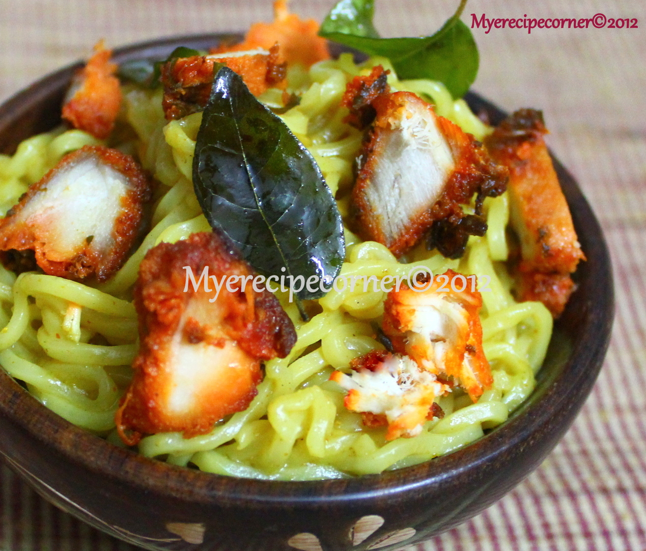 Noodles Masala Powder http://myerecipecorner.blogspot.com/2012/10/chicken-maggi-noodles-recipe-recipes.html