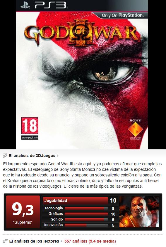 God Of War 3 -PS3-