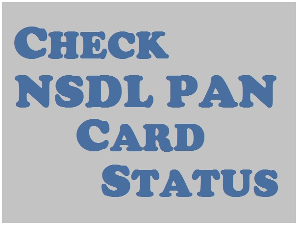 Check Nsdl Pan Card Status Viewstweets Viewstweets