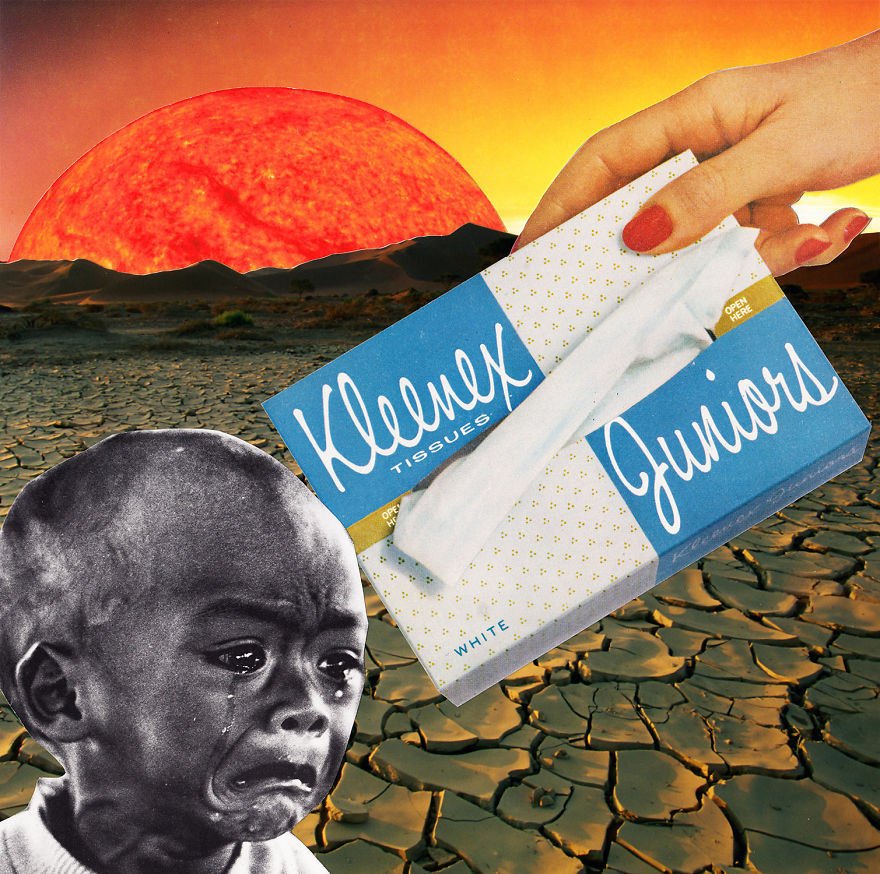 35 Cynical Collages That Tell Uncomfortable Truths About The World - International Response