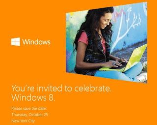 Windows 8 Akan Dirilis Pada 25 Oktober Mendatang