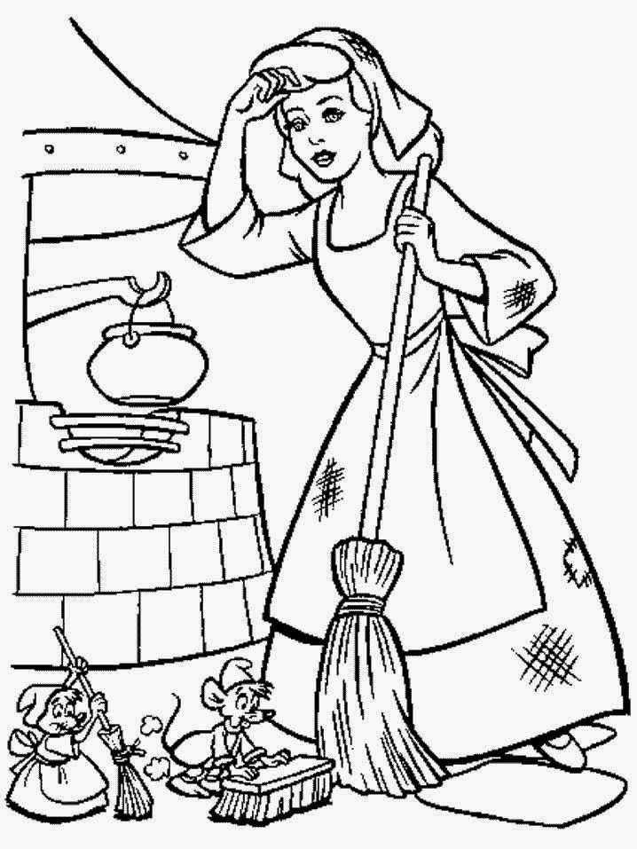 Que Menina Nao Sonhou Um Dia Com A Cinderela Veja Abaixo Uma Selecao De Desenhos Para Colorir Da Disney Lindos Voce