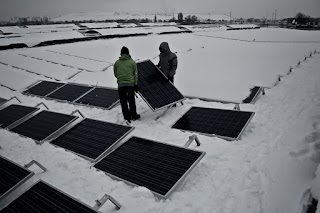 Mounting PV Panels in Winter - Belgium