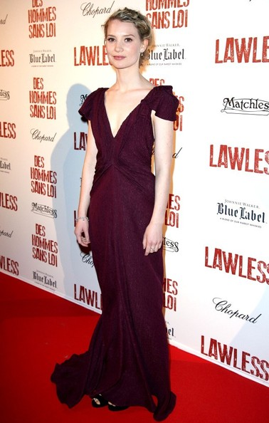 Mia Wasikowska Evening Dress