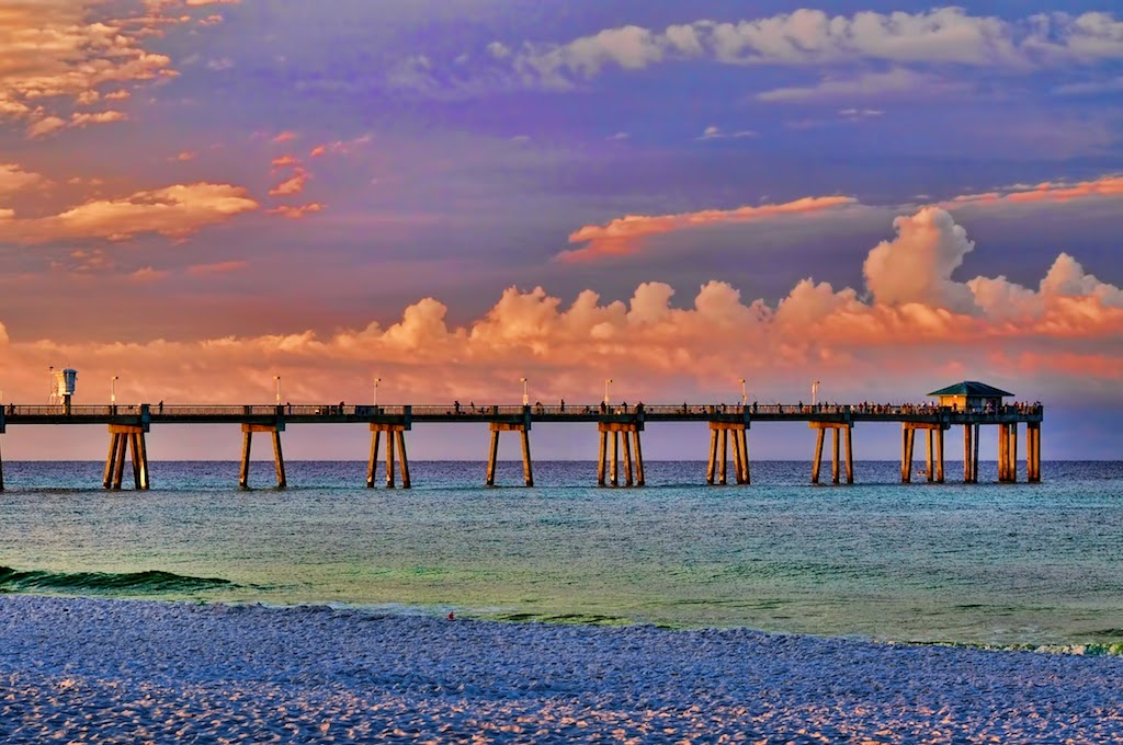 Florida Beaches Okaloosa Island In Fort Walton Beach Florida