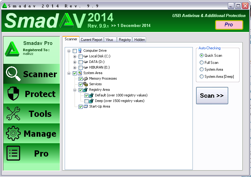 Smadav Pro Rev 9.9 Full Serial Number Terbaru 2015 Screenshot