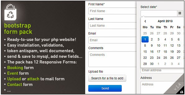 Bootstrap Form Pack