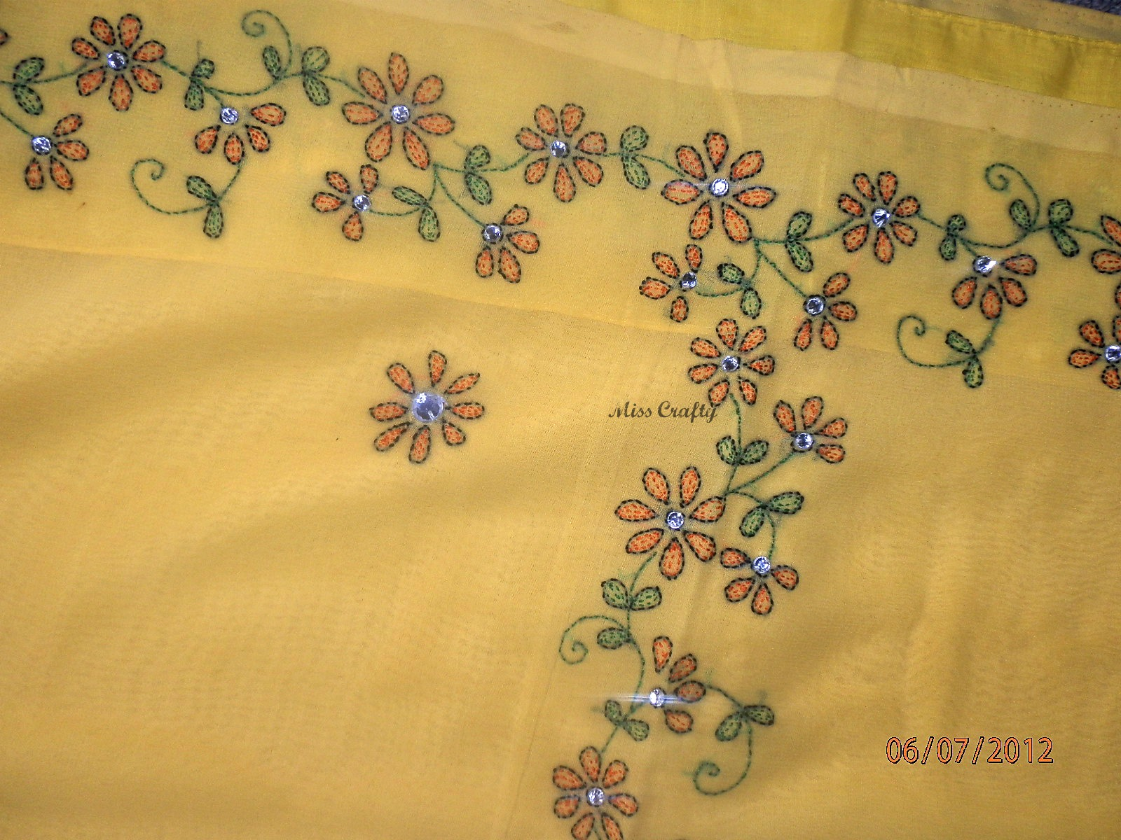 The craft gallery hand embroidered saree grandma s