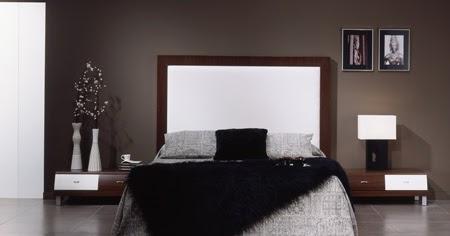 Dormitorio elegante de color plomo y negro predominan los for Color plomo
