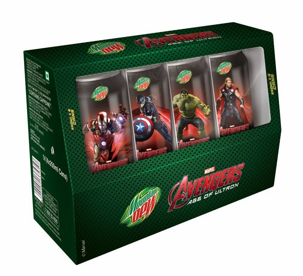 Buy Mountain Dew Avengers Combo Pack, 4x250ml (Collector's Edition) Rs.60 only at Amazon.