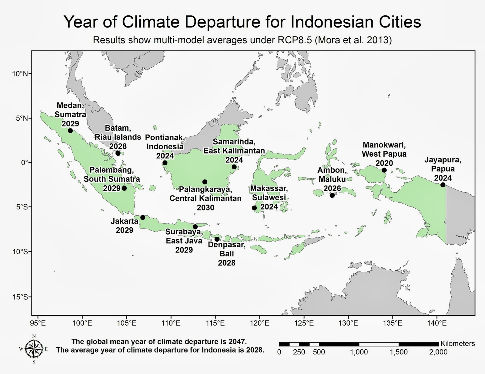 Climate Map Of Indonesia Courtesy of Abby Frazier and