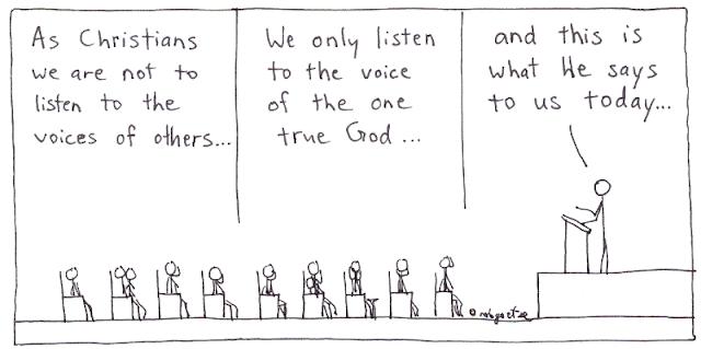 one true voice cartoon by rob g