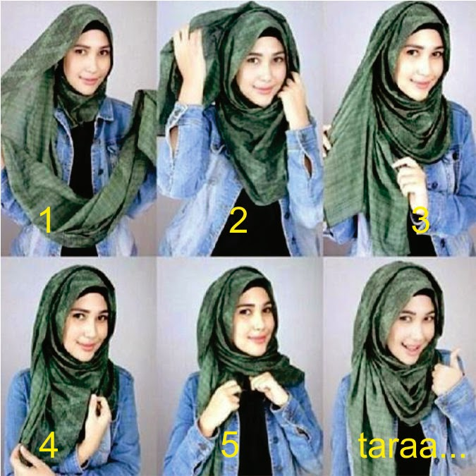 Tutorial Hijab 1 Model hijab pashmina