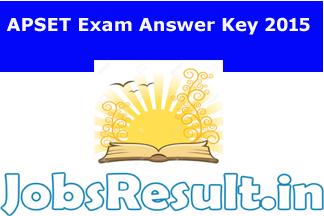 APSET Exam Answer Key 2015