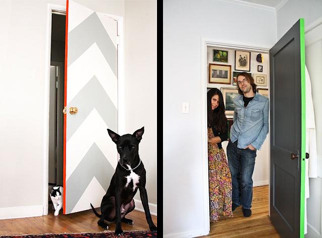 La fabrique d co oser la couleur peindre les portes de la maison l 39 - Deco peinture porte interieure ...