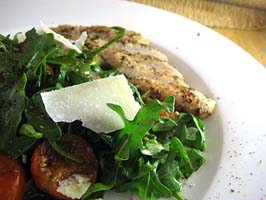 Weight Loss Recipes : Roasted Eggplant, Tomato and Arugula Salad