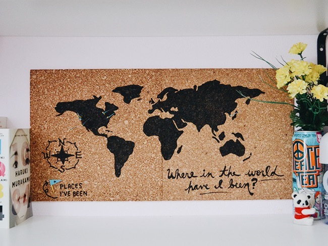 Maps update 600500 cork board world travel map world map cork corkboard world map inspinkle cork board world travel map gumiabroncs Choice Image