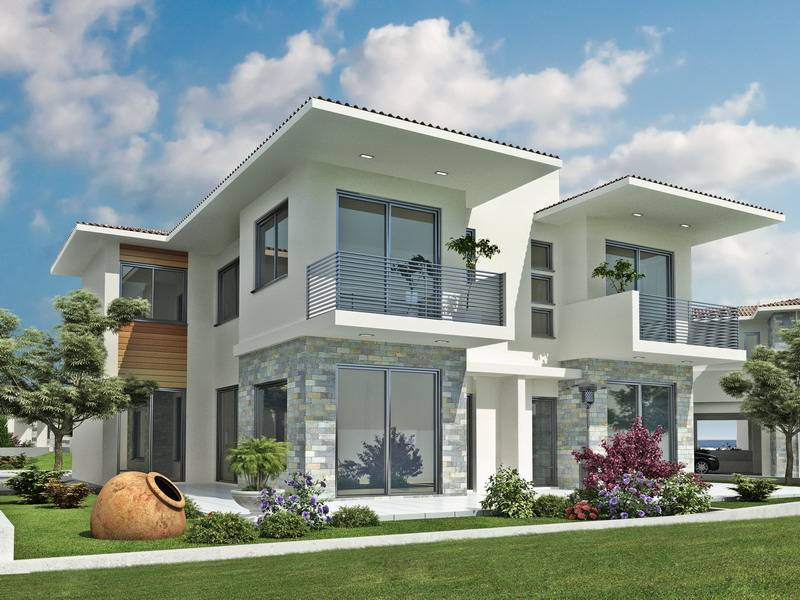 Modern dream homes exterior designs for Modern house front design