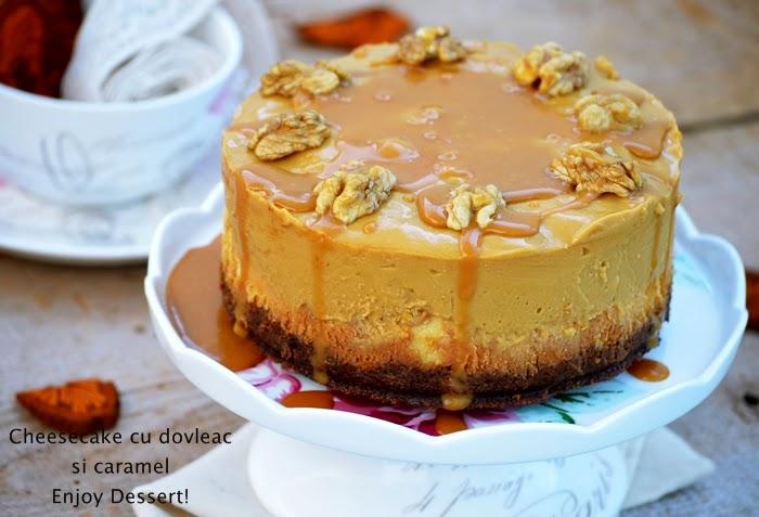 Cheesecake cu dovleac si caramel