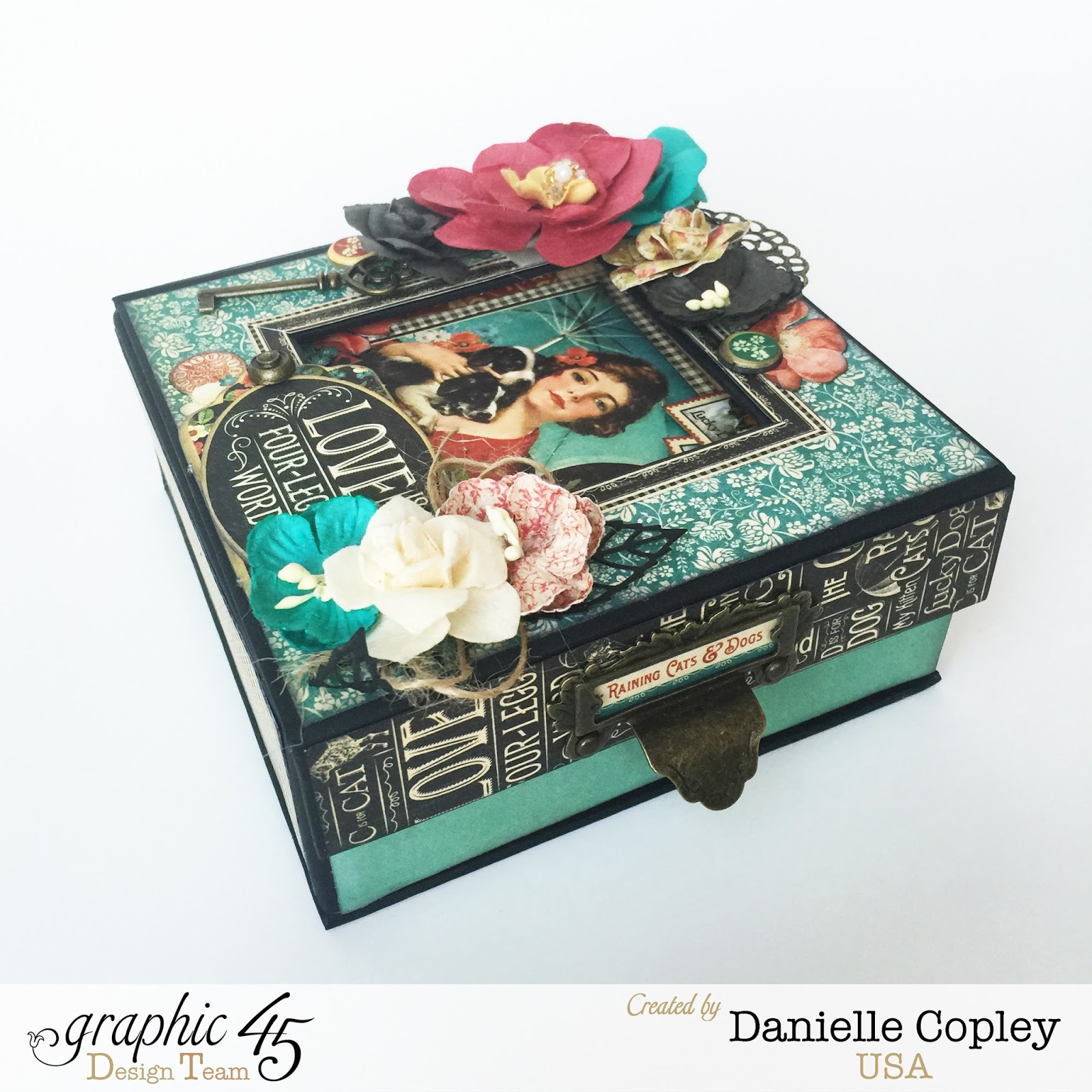 Boxed Photo Albums: She's Sew Crafty: Boxed Mini Album Using Graphic 45