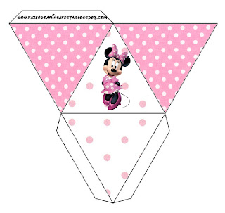 Cajita pirámide imprimible gratis de Minnie Mouse