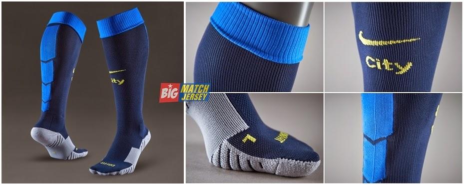 Nike Manchester City FC Away Socks - Dark ObsidianVibrant Yellow
