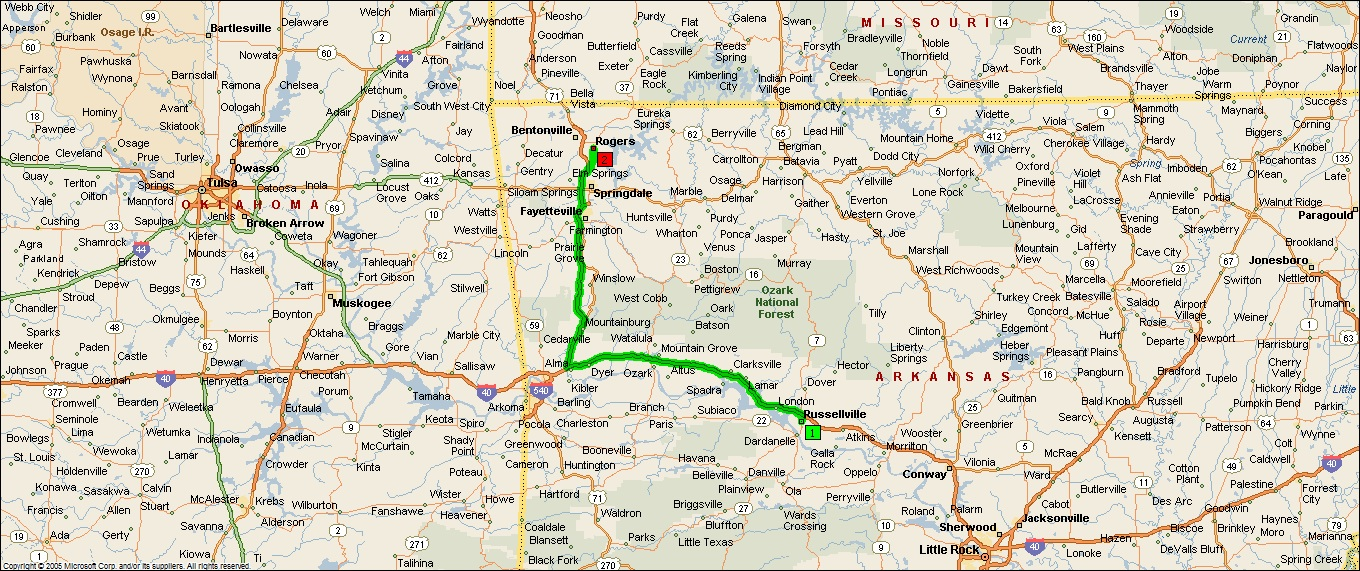 Roving Reports By Doug P Bentonville Arkansas - Bentonville ar on us map