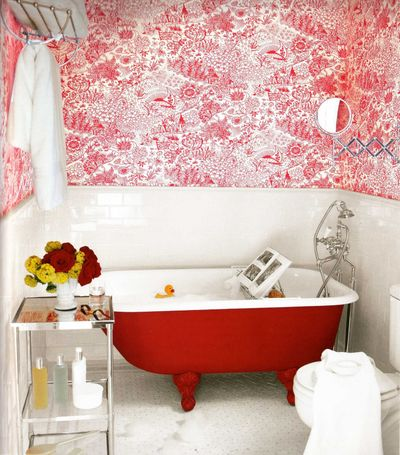 Bathroom wallpapers decoration for Wallpaper decoration for home