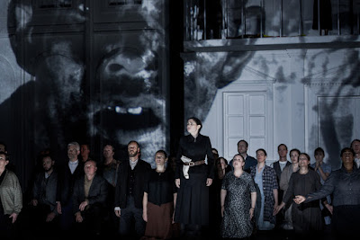 Rinat Shaham & ensemble - The Force of Destiny - English National Opera - photo Robert Workman