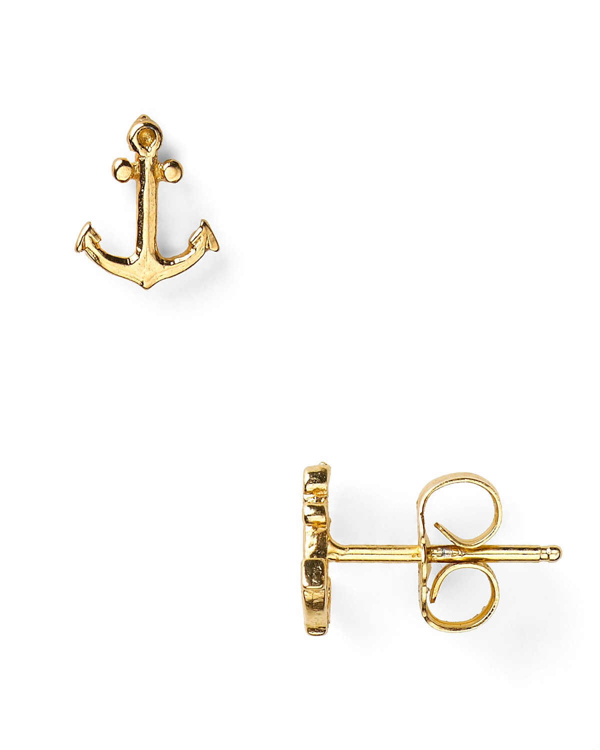 auger valve image gold anchor earrings