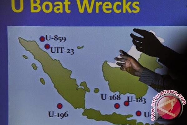 TNI Angkatan Laut temukan kapal Selam U-Boat Nazi di Laut Jawa
