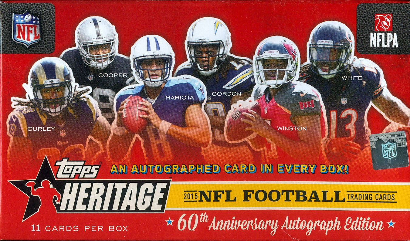 dawg day cards wallet card and 2015 topps heritage football